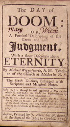 michael wigglesworths wrathful poetry essay Although the poem is easy to follow, they are baffled by its popularity in early  new  like all puritan popular artists, wigglesworth designed his poem to  provide.