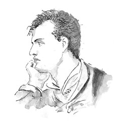 drawing of Byron