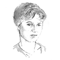 drawing of Plath
