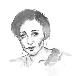 drawing of Zadie Smith