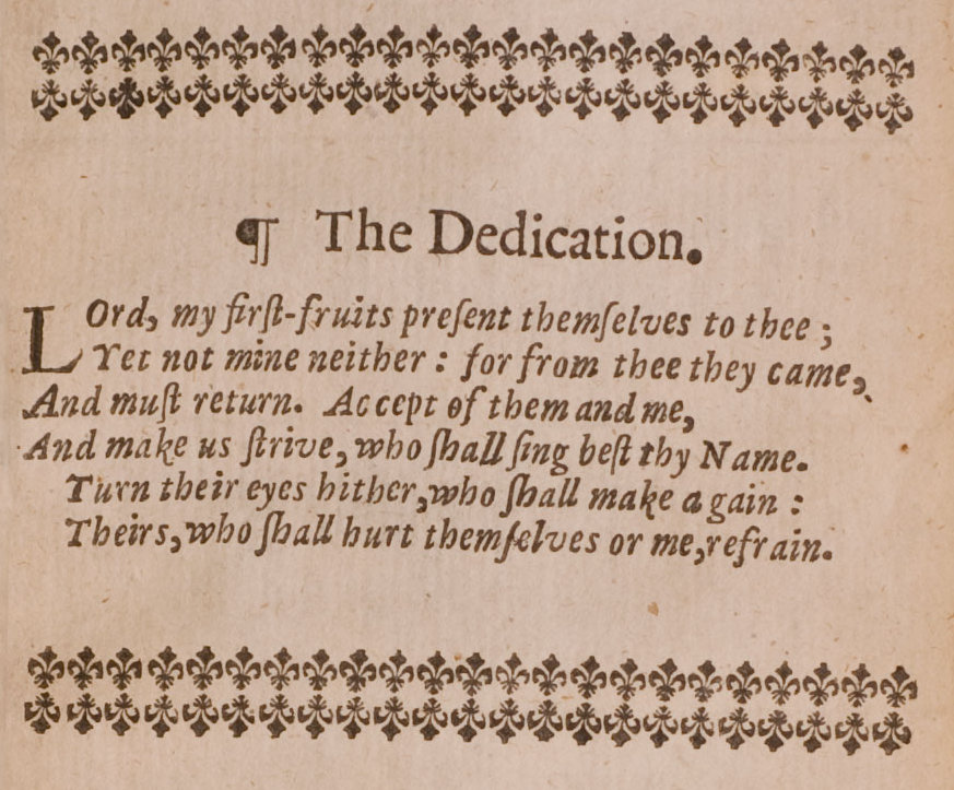dedication examples for a student project