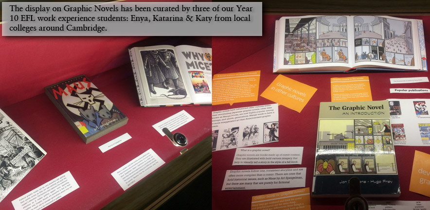 Benson Gallery: EFL Work Experience curated exhibit on Graphic Novels