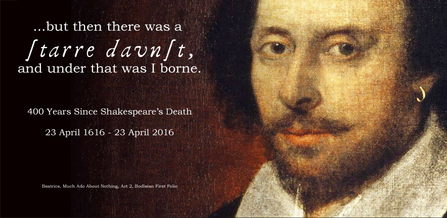400th Anniversary of Shakespeare's Death