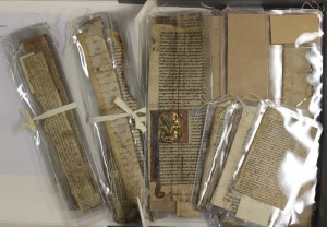 Fig. 10: The encapsulated fragments were kept in the groupings as received using waxed linen thread or archival tape.