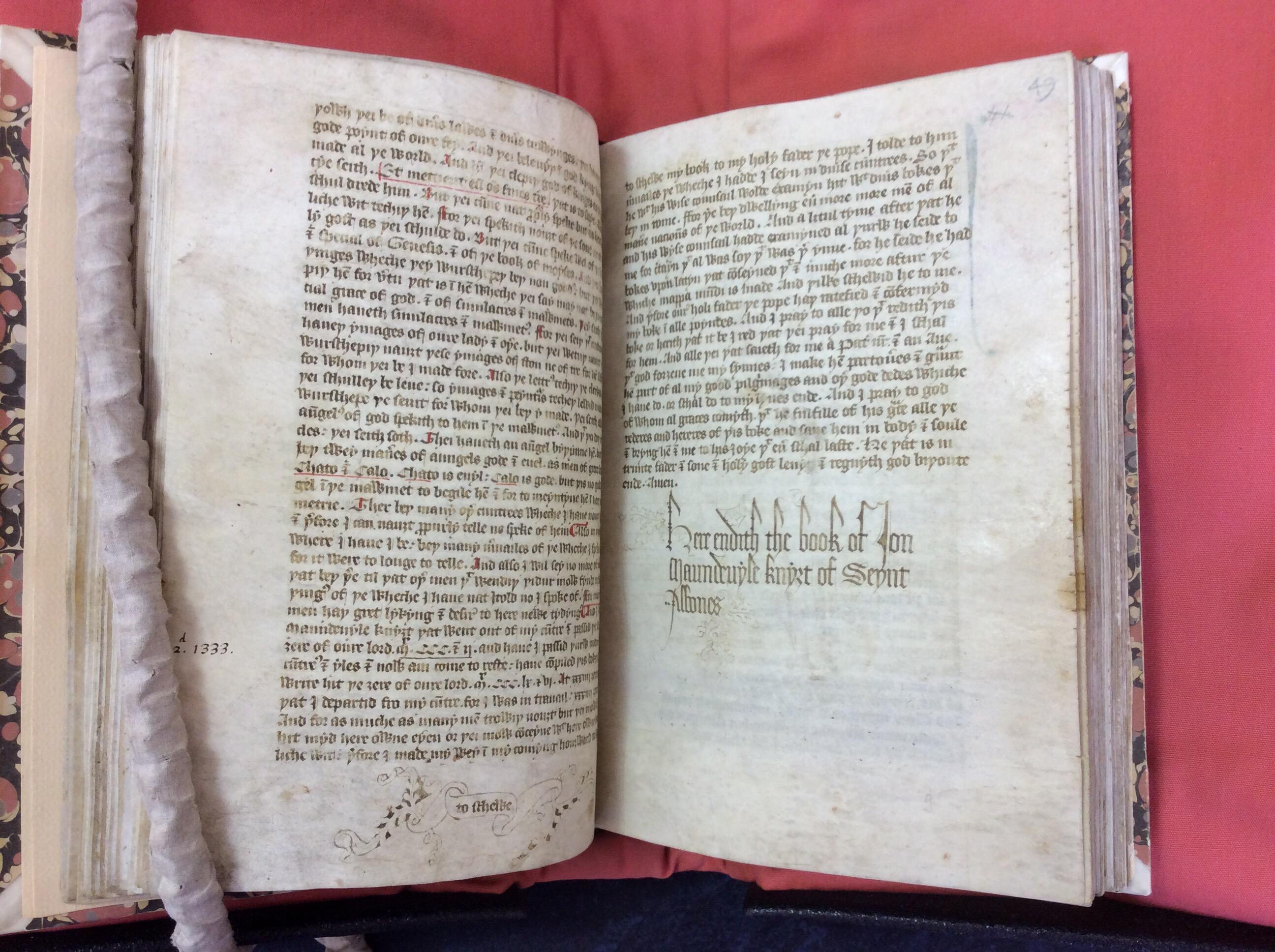 Cambridge University Library, MS Ff. 5. 35, ff. 48v-49r. Copyright Cambridge University Library