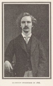 Image credit: a portrait photograph of Swinburne, from Thomas James Wise's bibliography of the poet's writings, 1919. 859.c.53 https://specialcollections.blog.lib.cam.ac.uk/?p=12859