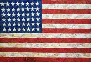 "Jasper Johns, ""Flag"", 1954-55, MoMA, New York Credit: Diego López Román"