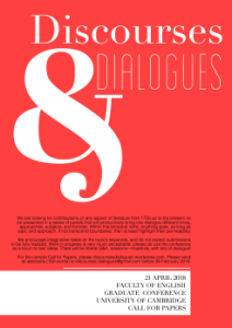 Discourses & Dialogues, Post-1750 Graduate Conference, Saturday 21