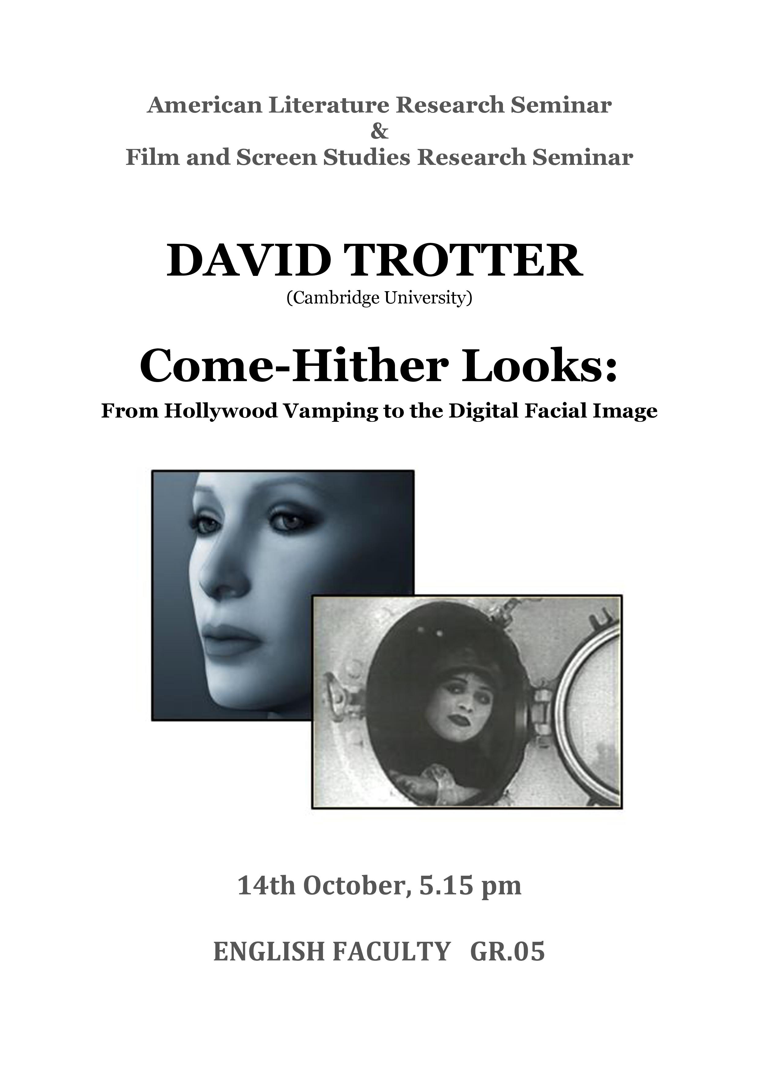 david trotter seminar 14 Oct-1