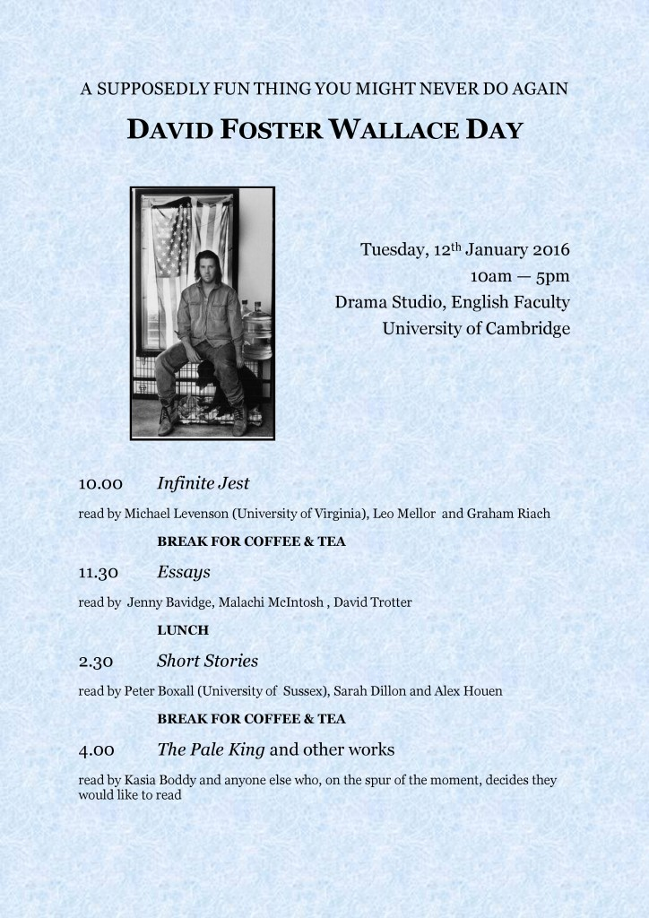 David Foster Wallace Day Programme Revised -1