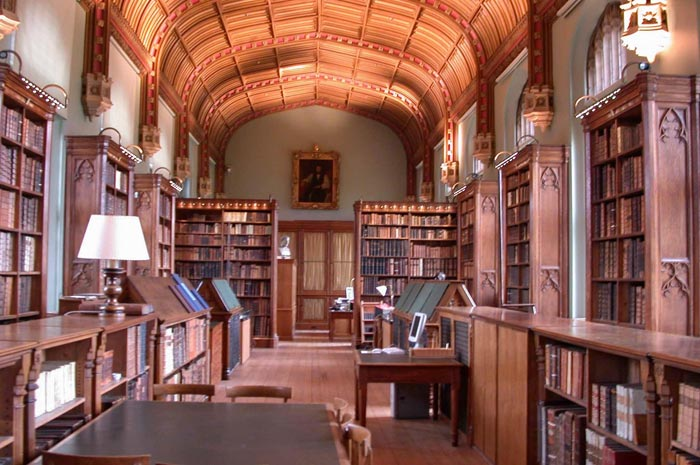 Fig. 5 - Interior of the Parker Library