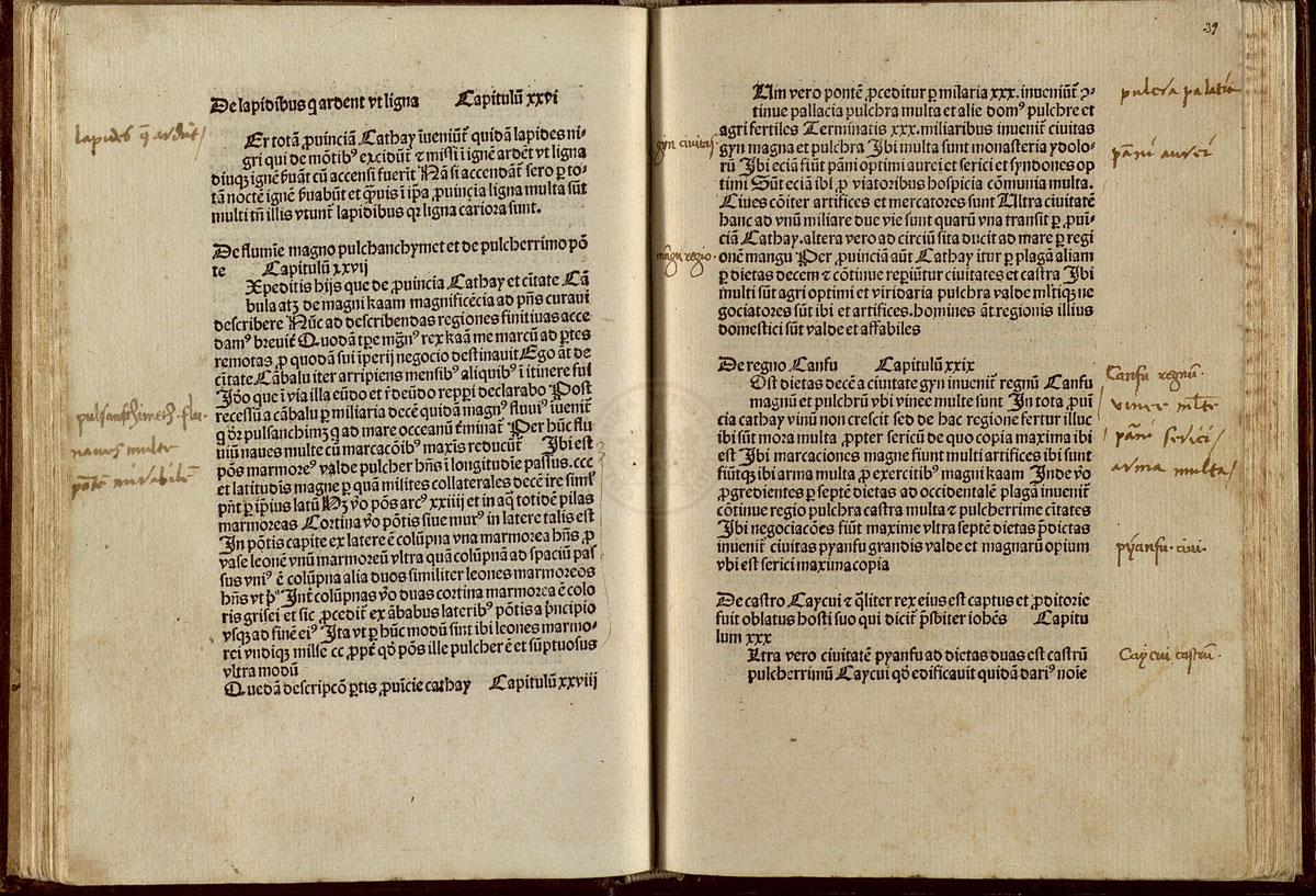 De consuetudinibus et conditionibus orientalium regionum. [Goudae : Gerardus Leeu, ca. 1483-1484]. Reproduced with permission from the Cabildo Catedral de Sevilla. Biblioteca Capitular Colombina.